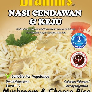 Mushroom & Cheese Ready-to-Eat Rice