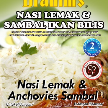 Nasi Lemak & Anchovies Sambal Ready-to-Eat Rice